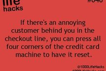 Life hacks...good and bad :p / by Chrissie McNeil