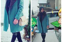 Winter hijab fashion