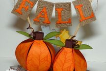 Fall  and Thanksgiving Pumpkin Decor / There are so many pumpkins for fall time that are soooooo beautifully decorated, the people that do these are fantastic.... / by Sharon Holiday