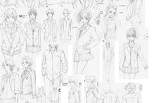 Уроки рисования (Аниме - наброски персонажей)