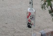Wind chimes for dog lovers / Our recycled bottle chimes