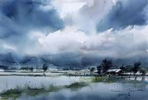 Watercolour Research / Watercolour paintings that inspire me for art class in graphic design