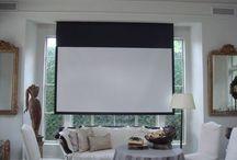 Drop down tv projector / window