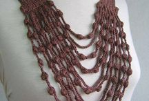 Crocheted Scarf Necklaces