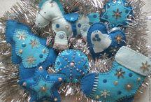 Vánoční šité dekorace