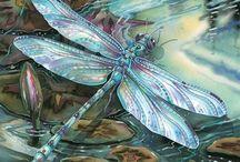 птицы стрекозы рыбы / перья пух и чешуя