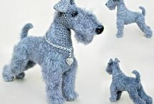 Kerry blue terrier amigurumi toy / Kerry blue terrier Crochet pattern by Tatiana Chirkova (Kanareika) for LittleOwlsHut / by LittleOwlsHut