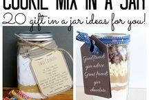 Glass Jar cookie mixtures