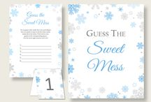 Baby Shower Products in Snowflake Theme, Invitations, Games, Decorations And More / Hi, thank you for visiting this beautiful baby shower board with products in Snowflake theme. Here, you'll find invitations, games and activities, decorations and more with over 60 products in this theme.