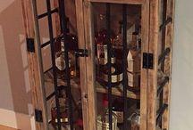 liquor cabinets, bar carts