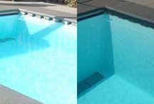 Zwembaden met kunststof profiel / Van den heuvel zwembaden heeft een bijzondere reiniging. Omtrek skimming en geen stofzuigen nodig.  Nu met kunststof profiel voor een strakker geheel.
