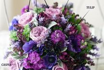 Purple flowers - bridal bouquets