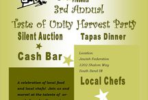 Taste of Unity Harvest Celebration 2013 / Annual Unity Gardens year end harvest celebration. Fundraiser includes 10 Chefs cooking Tapas for you to sample. Cash bar, and Silent Auction . In late Oct