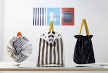 GRADUATION WORK / Graduation work '14 | bag collection. 'STRIPEOLOGY - the interrupted continuum'  The core of my collection is the principle of the stripe; separation or interruption of a continuum. It is an elementary research for the subtle variations of this simple pattern. By discovering the world behind the stripe, I became fascinated by the richness of the minimum.
