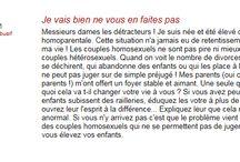 Débat - L'adoption pour un couple homosexuel. (pour)