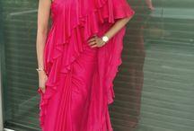 Ruffled saree Shilpa Reddy
