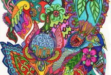 Zentangles / Imagine how great these would be on Quilts!