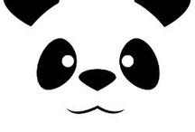 panda kussing