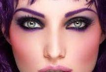 ojos negros con iluminacion en dif colores