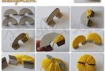 como hacer el pompom