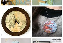 Vintage Map Inspiration / Inspiring Farmhouse Style vintage map decor, vintage map diy