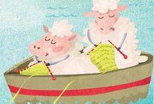 Knitting illustration