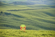 real world pixel art