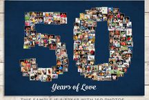 Anniversary Gift Ideas / Give a gift from your heart! Anniversary gift for husband, Anniversary gift for wife, Anniversary gift for girlfriend, Heart Photo Collage. Designed and printed by Lali / Your, Life My Design
