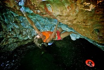 women climbing & bouldering