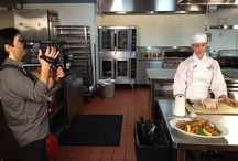"From the set of ""What's Cooking"" ... / Behind the scenes at the International Culinary Center. / by CBS What's Cooking"