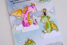 Card me and my dragon stamp set