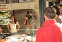 PSYCOKILLERS - Jorge Nebra en el Mercado Central / 31 de julio 2014. Jorge Nebra realizando una sesión fotográfica para su nuevo libro. La protagonista de las fotos es Clara Tellez, cantante del grupo Los Peces.