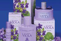 Una bacheca tutta viola #erbolario #viola / Violette, Iris e l'Arcobaleno...ecco il #viola visto da L'Erbolario