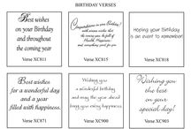 Birthday card sentiment words
