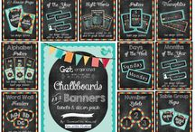 Chalkboard School Theme Ideas / by Elizabeth Milhollin