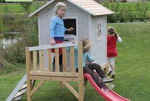 houten speelhuis tuin