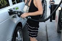 blonde celebrities pumping gas / by Rachel Seville