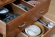 Creative Kitchen Storage / Creative ideas and pieces to better utilize storage in your kitchen cabinets. From Decora, Kemper and more!
