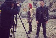 GLASGOW / Le groupe de rock GLASGOW a fait appel à Peyrefitte Make-Up pour réaliser leur maquillage dans le cadre d'un shooting photo pour leur nouvel album.  RUOFAN, élève de SUP'MAQ a maquillé les artistes.
