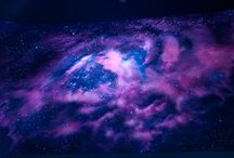 Beautiful Purple Galaxies / I Love galaxies so much <3 I think they're really cool and interesting