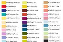 stemple farver