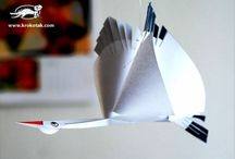 Térbeli gólya papírból