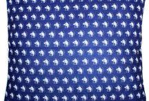 Blue Decor:  Blue Throw Pillows