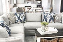 kuchyň + obývací pokoj
