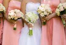 Ayan / Lots of shades of pink with coral Bridesmaids dresses June 2012