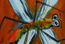 Pro Hart's Dragonflies / These are a collection of Pro Hart's dragonfly paintings, which I am slowly adding to as I find images on the Internet.