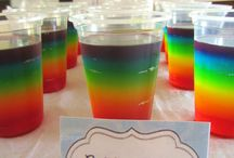 Rainbow Birthday Party / Ideas for rainbow party including invites, party bags, food and decor.