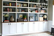 Built In / Bookshelf Decorating / by Jessica Rhoades