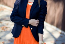 Lovely: Navy & Orange
