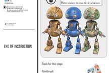 Little_bit 3D TOYS / Robot android